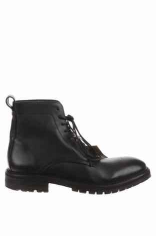 Мъжки обувки Hudson London, Размер 44, Цвят Черен, Естествена кожа, Цена 158,95лв.