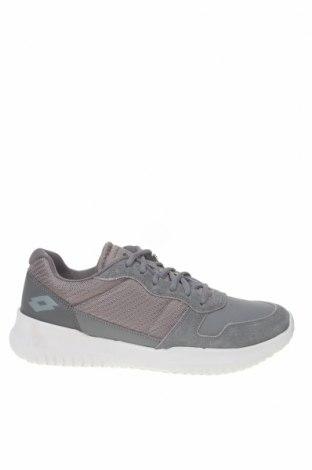 Ανδρικά παπούτσια Lotto, Μέγεθος 43, Χρώμα Γκρί, Κλωστοϋφαντουργικά προϊόντα, δερματίνη, φυσικό σουέτ, Τιμή 42,14€