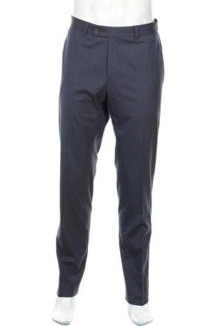 Pantaloni de bărbați Daniel Hechter, Mărime L, Culoare Albastru, 49% poliester, 48% viscoză, 3% elastan, Preț 54,21 Lei