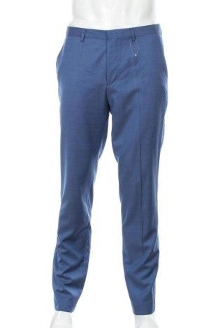Pánské kalhoty  Hugo Boss, Velikost L, Barva Modrá, 100% vlna, Cena  1618,00Kč