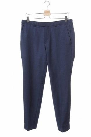 Pánské kalhoty  Hugo Boss, Velikost M, Barva Modrá, 100% vlna, Cena  1849,00Kč