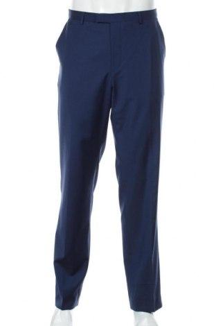 Мъжки панталон Hugo Boss, Размер XL, Цвят Син, 100% вълна, Цена 145,77лв.