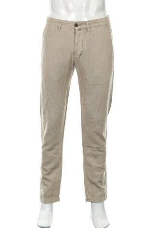 Pantaloni de bărbați Marc O'Polo, Mărime M, Culoare Bej, 56% in, 44% bumbac, Preț 71,84 Lei