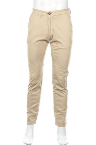 Мъжки панталон Montego, Размер M, Цвят Бежов, 98% памук, 2% еластан, Цена 15,63лв.
