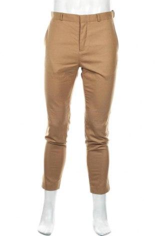 Мъжки панталон Morris & Co x H&M, Размер M, Цвят Бежов, 38% полиестер, 33% вълна, 26% вискоза, 3% еластан, Цена 10,24лв.