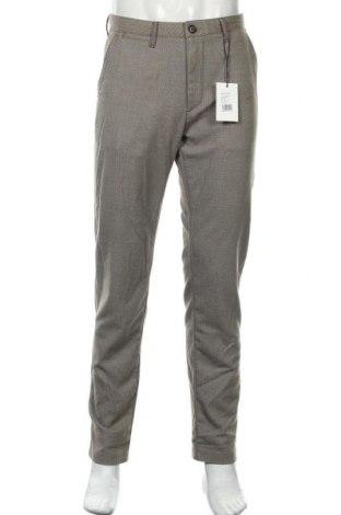 Мъжки панталон Sondag & Sons, Размер L, Цвят Кафяв, 64% полиестер, 34% вискоза, 2% еластан, Цена 24,80лв.
