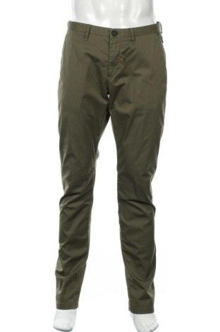 Мъжки панталон Tom Tailor, Размер L, Цвят Зелен, 98% памук, 2% еластан, Цена 29,40лв.