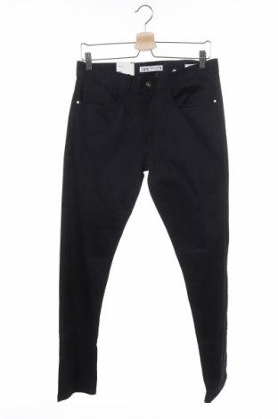 Мъжки панталон Zara, Размер S, Цвят Син, 98% памук, 2% еластан, Цена 13,57лв.