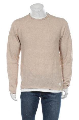 Мъжки пуловер Blend, Размер L, Цвят Бежов, Памук, Цена 38,35лв.