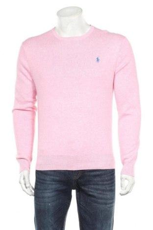 Pánský svetr  Polo By Ralph Lauren, Velikost M, Barva Růžová, Bavlna, Cena  1360,00Kč