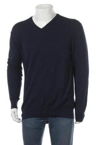 Мъжки пуловер Royal Class, Размер XL, Цвят Син, 78% памук, 20% полиамид, 2% еластан, Цена 19,32лв.
