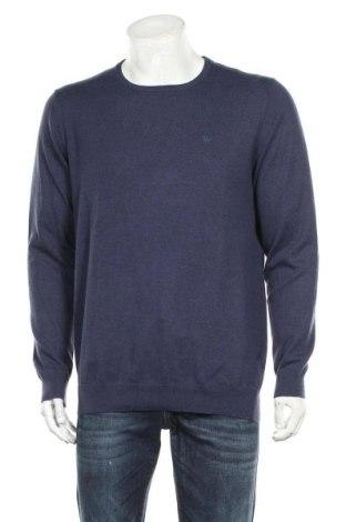 Pánský svetr  Wrangler, Velikost XL, Barva Modrá, 47% bavlna, 46% polyamide, 7% vlna, Cena  1360,00Kč