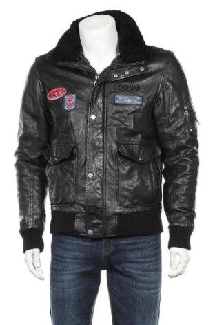 Мъжко кожено яке Gipsy, Размер M, Цвят Черен, Естествена кожа, Цена 204,50лв.