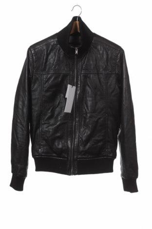 Мъжко кожено яке SERGE PARIENTE, Размер M, Цвят Черен, Естествена кожа, Цена 220,05лв.