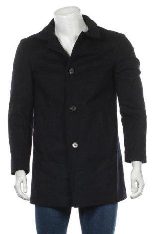 Pánský kabát  Joop!, Velikost M, Barva Modrá, 65% vlna, 30% polyamide, 5% jiné tkaniva , Cena  4294,00Kč
