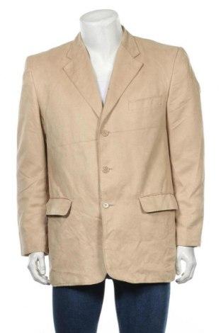 Мъжко сако, Размер L, Цвят Бежов, Полиестер, Цена 6,56лв.