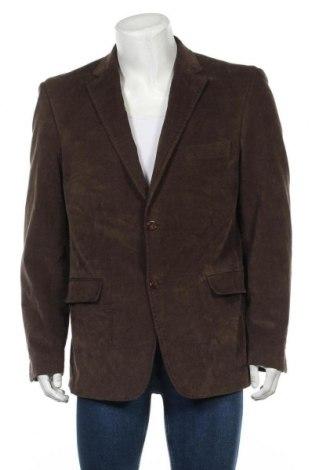 Мъжко сако, Размер L, Цвят Кафяв, 98% памук, 2% еластан, Цена 8,14лв.