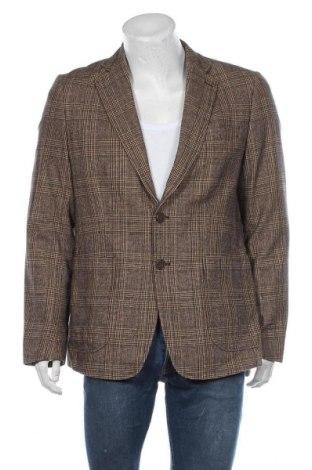 Мъжко сако Essentiel, Размер XL, Цвят Кафяв, 37% вълна, 50% памук, 13% полиамид, Цена 12,08лв.