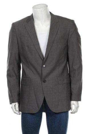 Мъжко сако Hugo Boss, Размер L, Цвят Сив, Вълна, Цена 26,78лв.