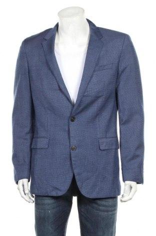 Мъжко сако Hugo Boss, Размер L, Цвят Син, Цена 103,32лв.