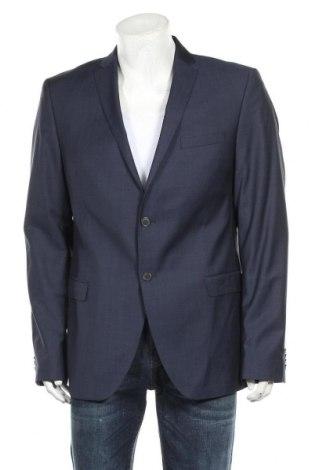 Мъжко сако S.Oliver, Размер XL, Цвят Син, 80% вълна, 10% полиестер, 10% полиамид, Цена 42,57лв.