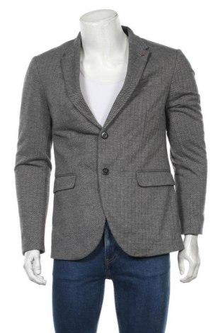 Мъжко сако Zara Man, Размер L, Цвят Сив, 74% полиестер, 15% вискоза, 11% памук, Цена 31,92лв.