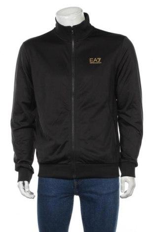 Мъжко спортно горнище Emporio Armani, Размер L, Цвят Черен, Полиестер, Цена 125,95лв.