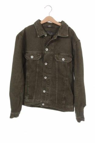 Мъжко яке Zara Man, Размер S, Цвят Зелен, Памук, Цена 26,02лв.