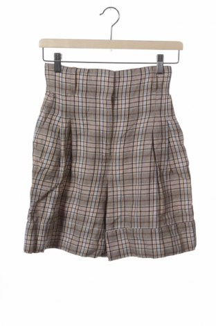 Дамски къс панталон Massimo Dutti, Размер XS, Цвят Многоцветен, 58% лен, 42% памук, Цена 25,20лв.