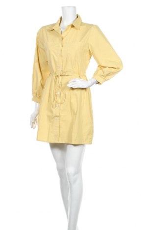 Рокля LeGer By Lena Gercke, Размер S, Цвят Жълт, Памук, Цена 31,05лв.
