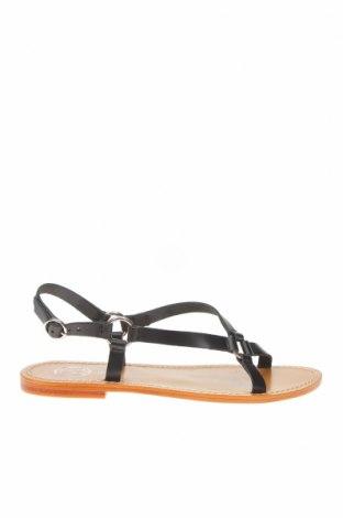 Сандали W.S Shoes, Размер 38, Цвят Черен, Естествена кожа, Цена 44,69лв.