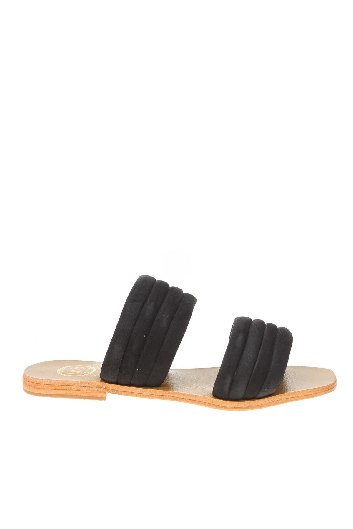 Чехли W.S Shoes, Размер 38, Цвят Черен, Естествен велур, Цена 40,03лв.