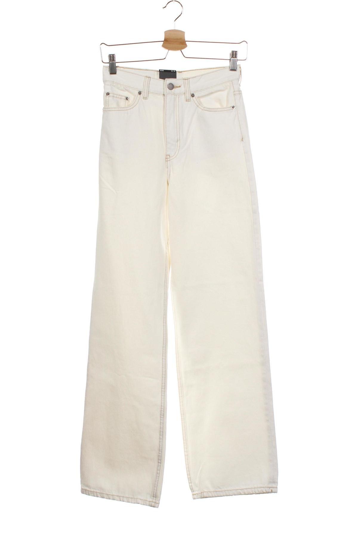 Дамски дънки Dr. Denim, Размер XS, Цвят Бял, Памук, Цена 25,84лв.