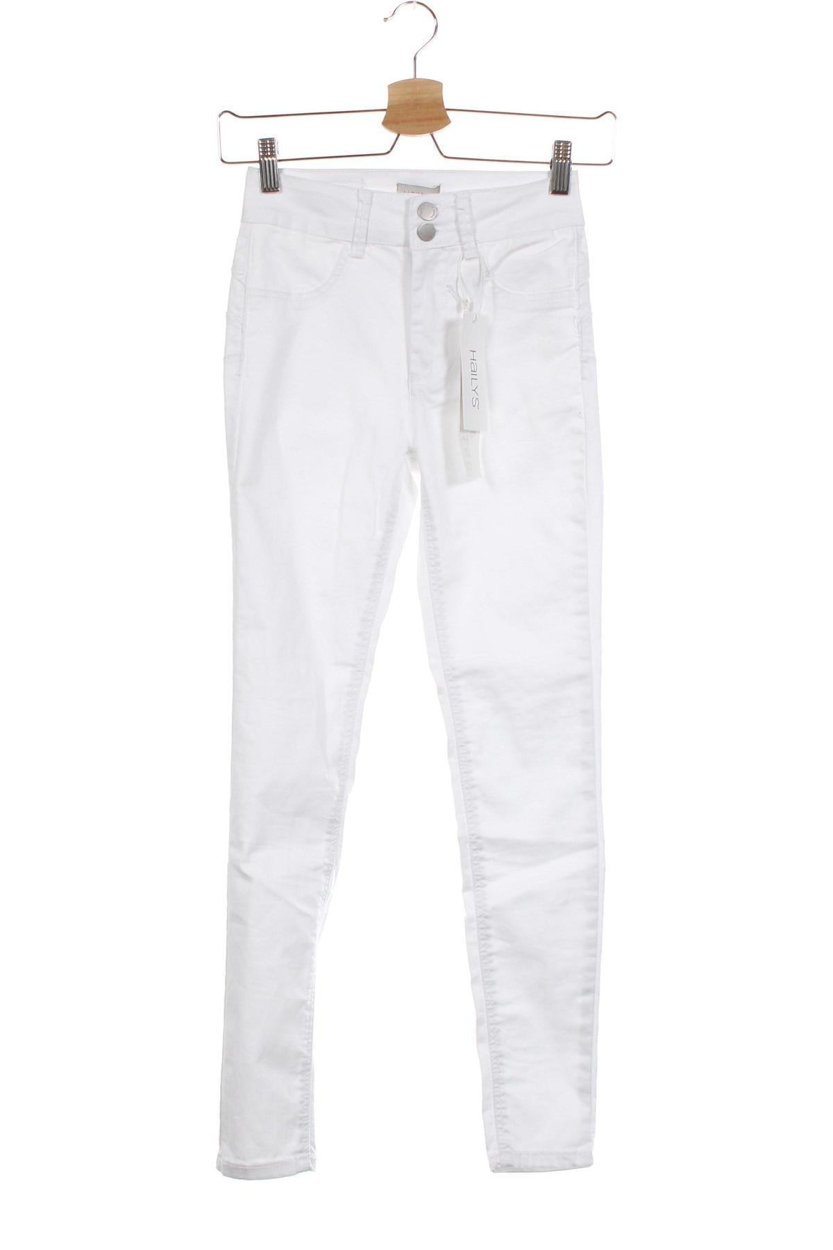 Дамски дънки Haily`s, Размер XS, Цвят Бял, 70% памук, 28% полиестер, 2% еластан, Цена 22,42лв.