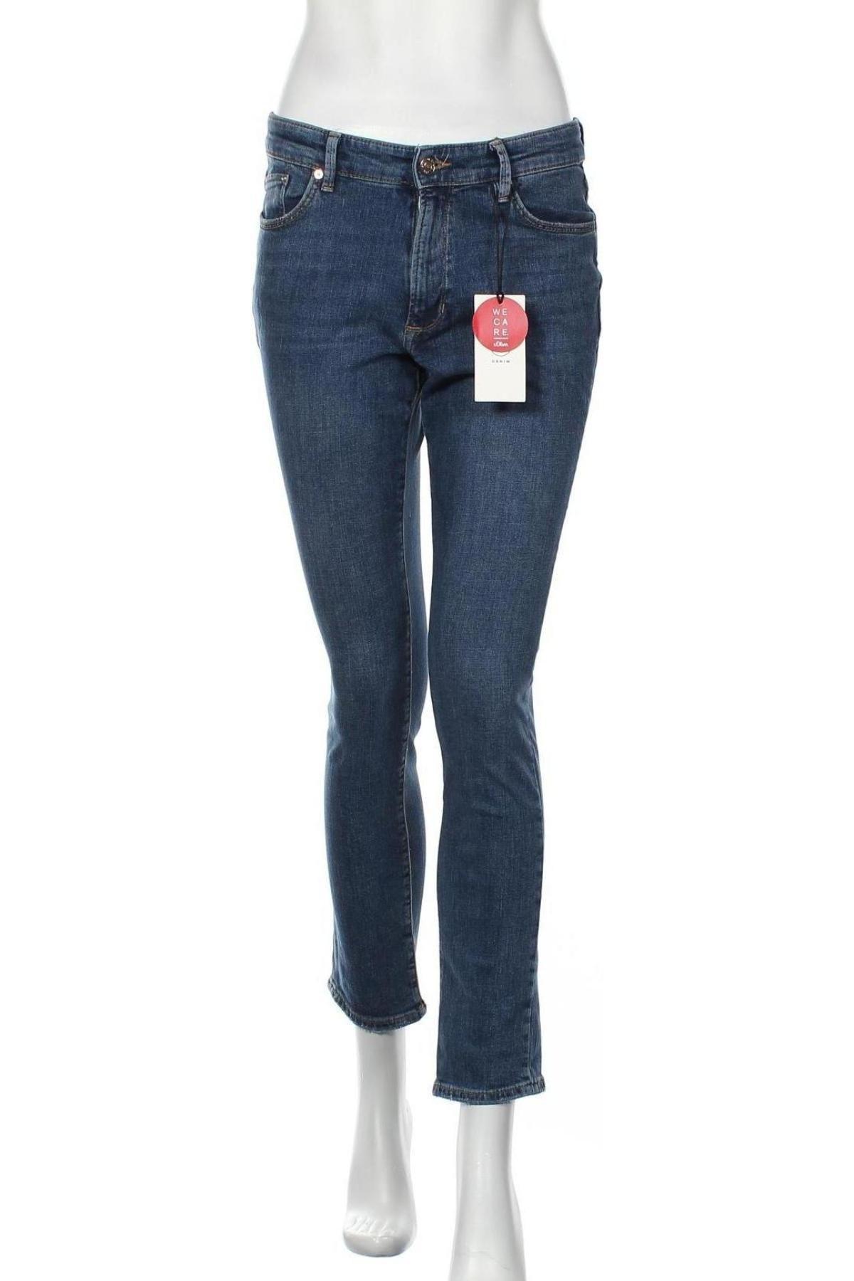 Дамски дънки S.Oliver, Размер S, Цвят Син, 98% памук, 2% еластан, Цена 32,67лв.