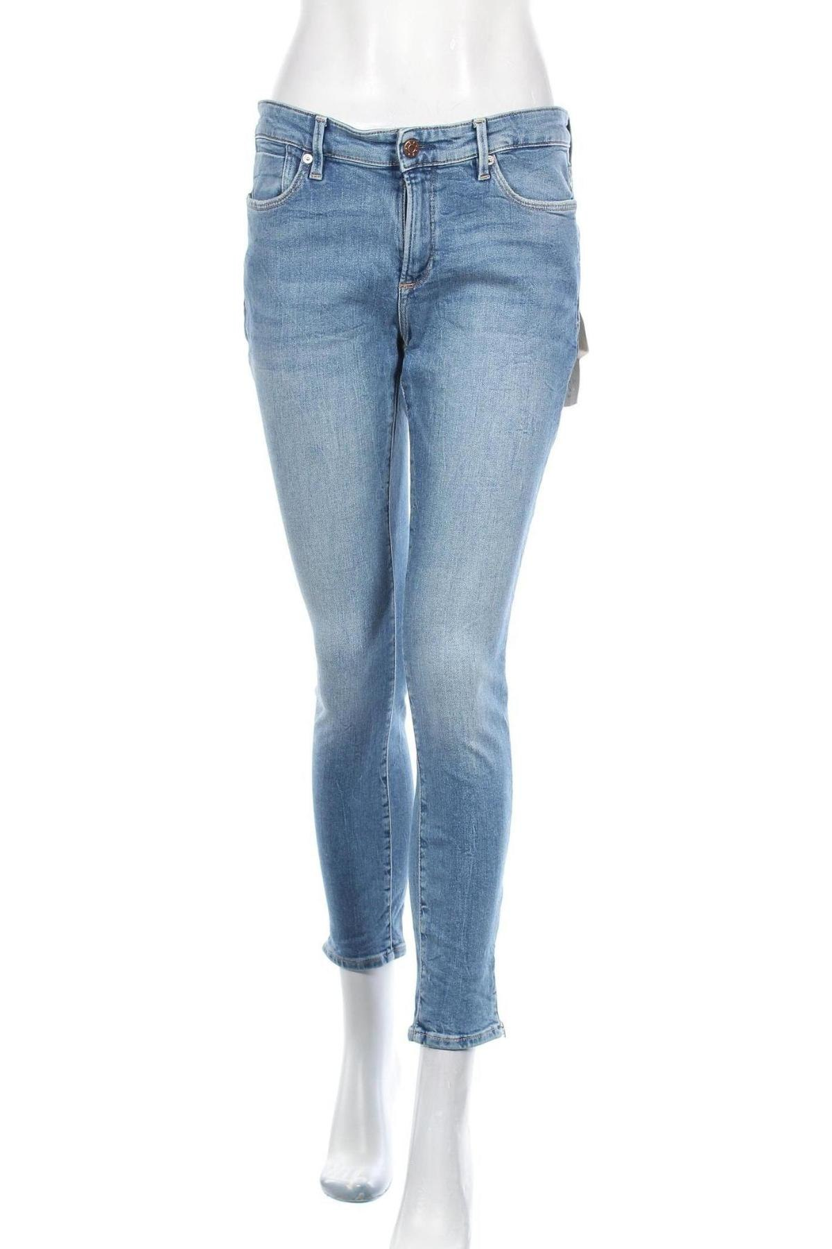 Дамски дънки S.Oliver, Размер M, Цвят Син, 99% памук, 1% еластан, Цена 64,50лв.