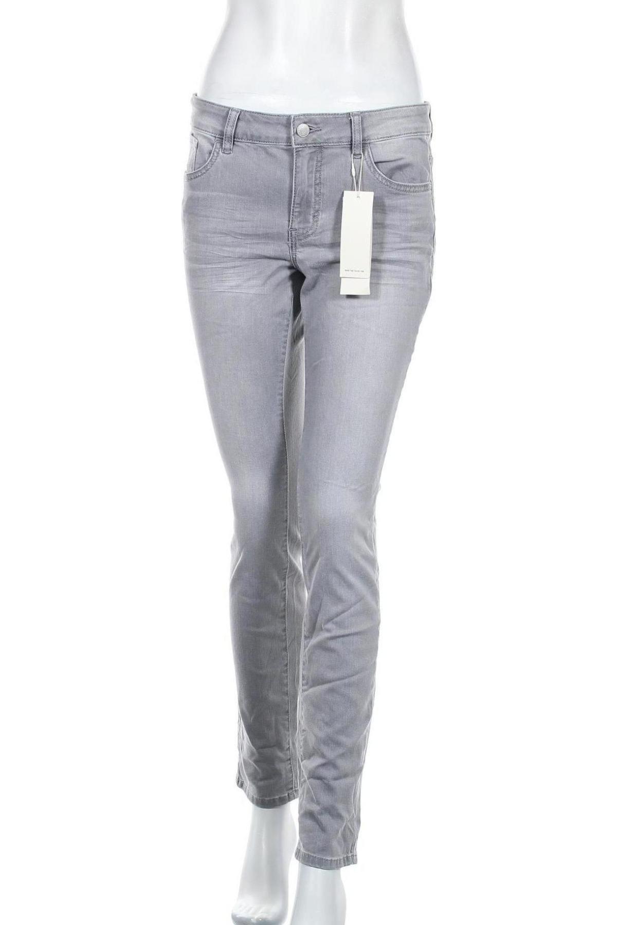 Дамски дънки Tom Tailor, Размер L, Цвят Сив, 69% памук, 20% полиестер, 9% вискоза, 2% еластан, Цена 33,82лв.