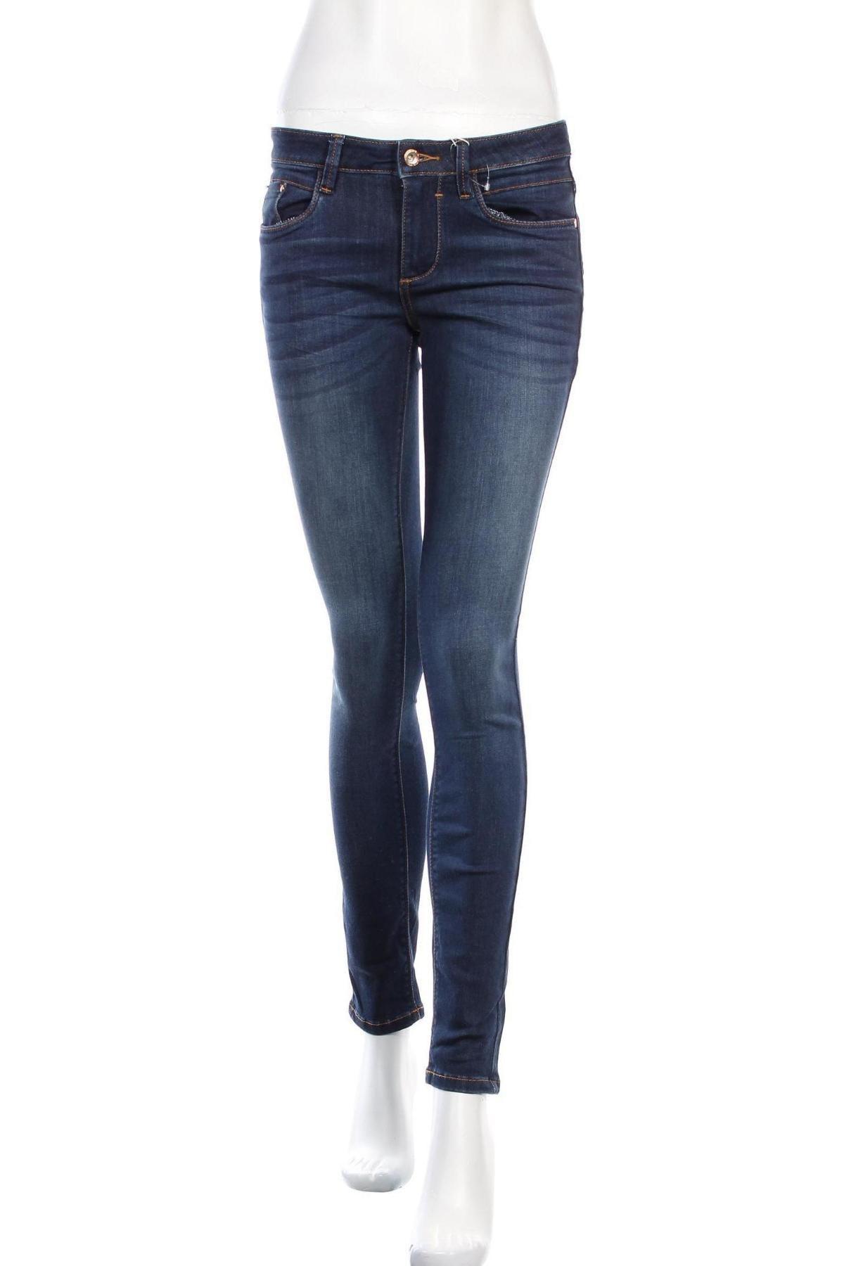 Дамски дънки Tom Tailor, Размер S, Цвят Син, 42% памук, 34% полиестер, 22% вискоза, 2% еластан, Цена 59,25лв.
