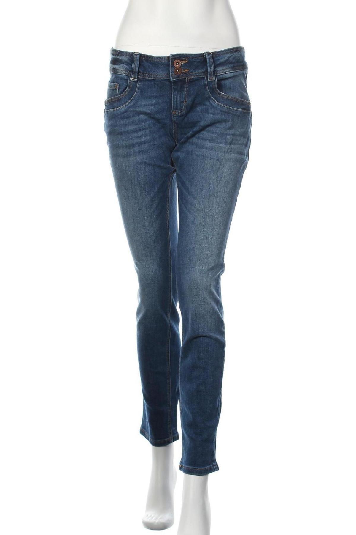 Дамски дънки Tom Tailor, Размер L, Цвят Син, 98% памук, 2% еластан, Цена 66,75лв.