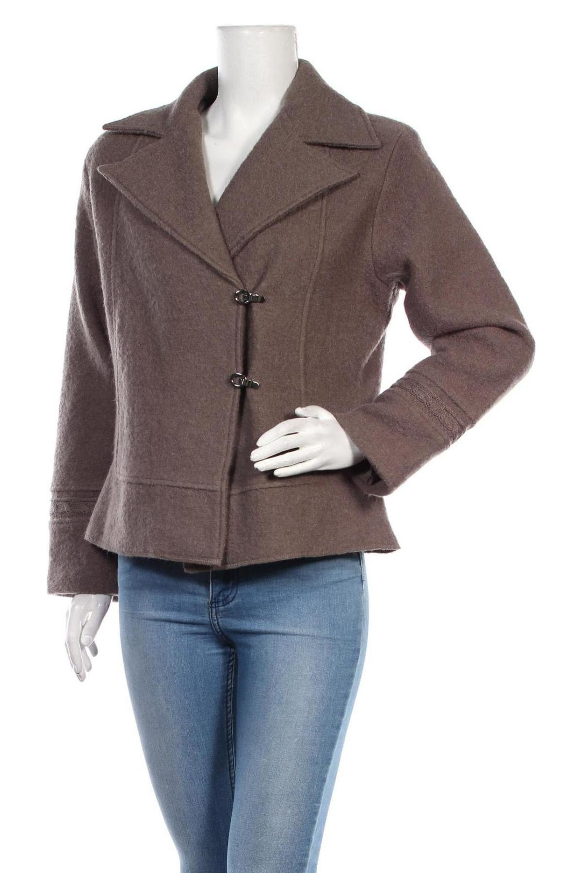 Дамско палто Aglini, Размер XS, Цвят Кафяв, 36% вълна, 35% акрил, 22% полиестер, 7% коприна, Цена 35,56лв.