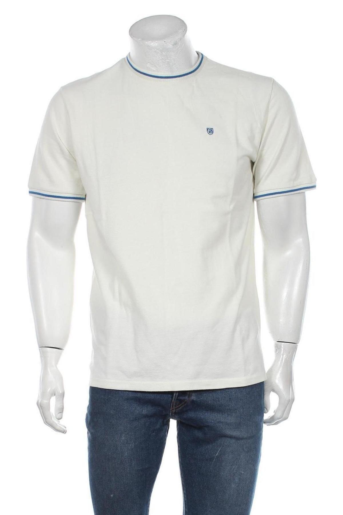 Мъжка тениска Brixton, Размер M, Цвят Екрю, Памук, Цена 24,00лв.