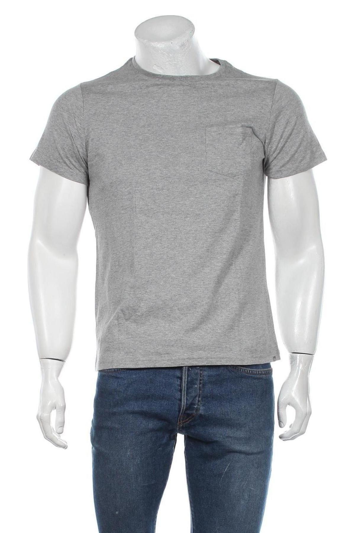 Мъжка тениска Grayson, Размер S, Цвят Сив, Памук, Цена 12,60лв.