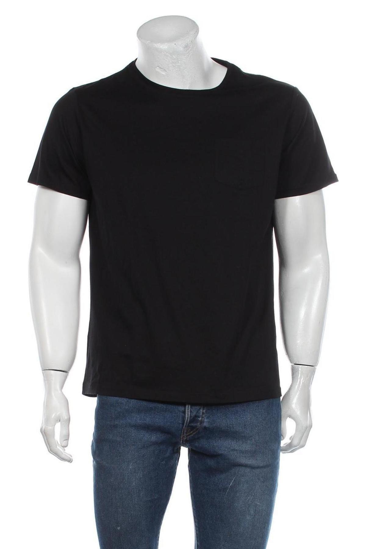 Мъжка тениска Grayson, Размер L, Цвят Черен, Памук, Цена 8,78лв.