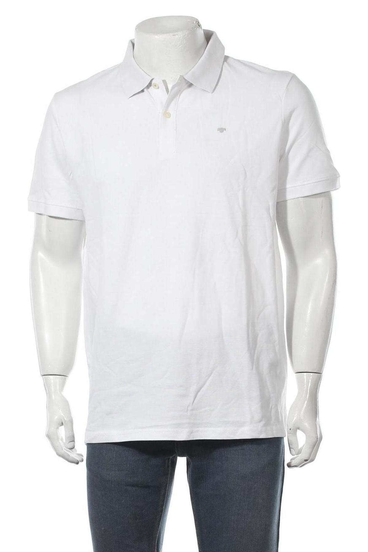 Мъжка тениска Tom Tailor, Размер XL, Цвят Бял, Памук, Цена 29,25лв.