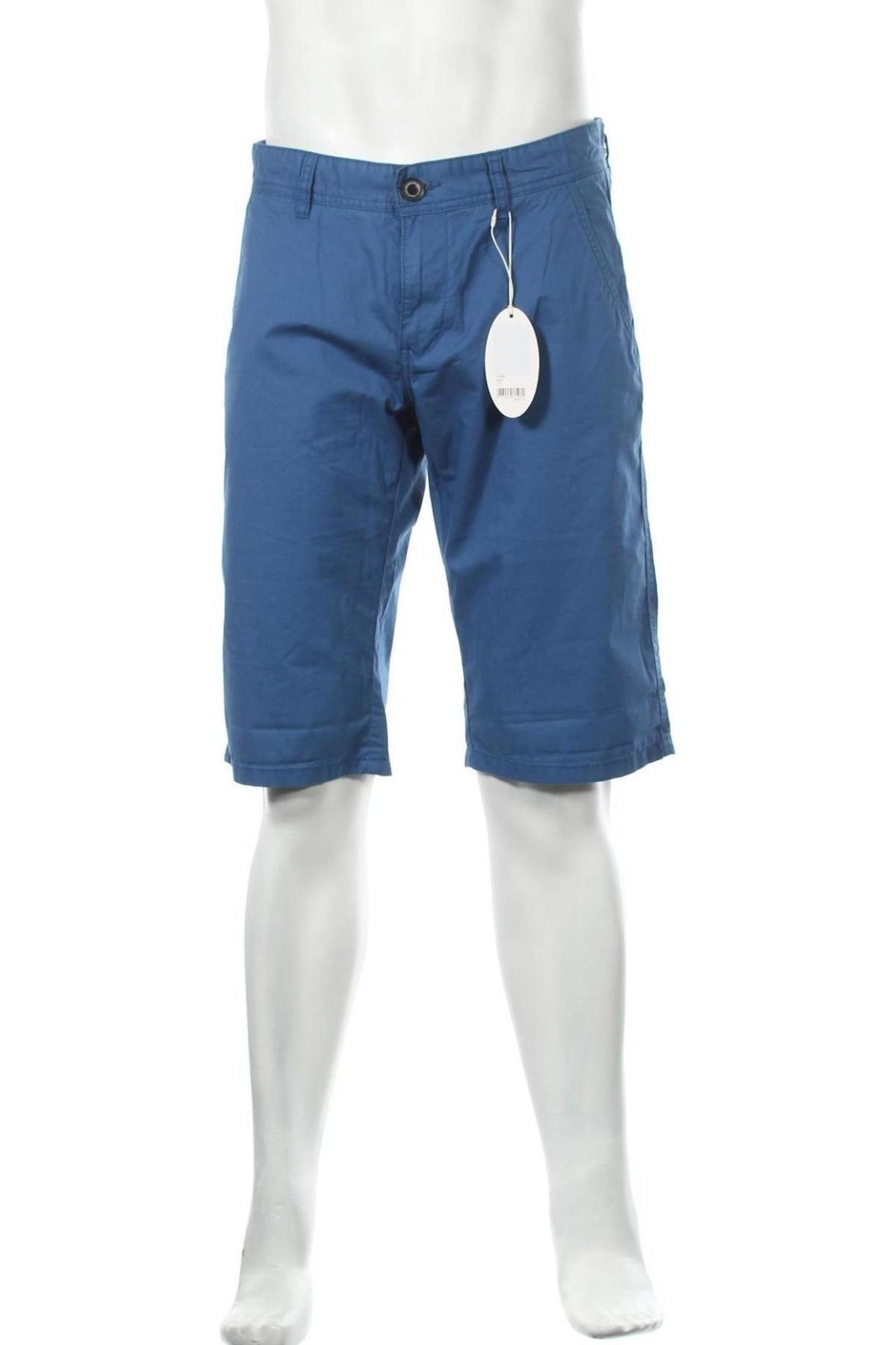 Мъжки къс панталон Edc By Esprit, Размер M, Цвят Син, Памук, Цена 17,05лв.