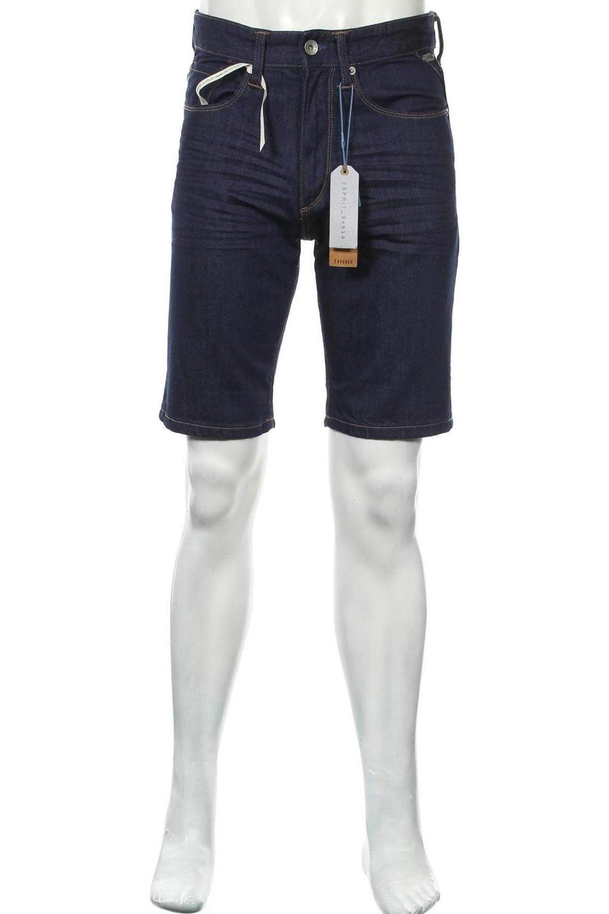 Мъжки къс панталон Esprit, Размер M, Цвят Син, Памук, Цена 31,05лв.