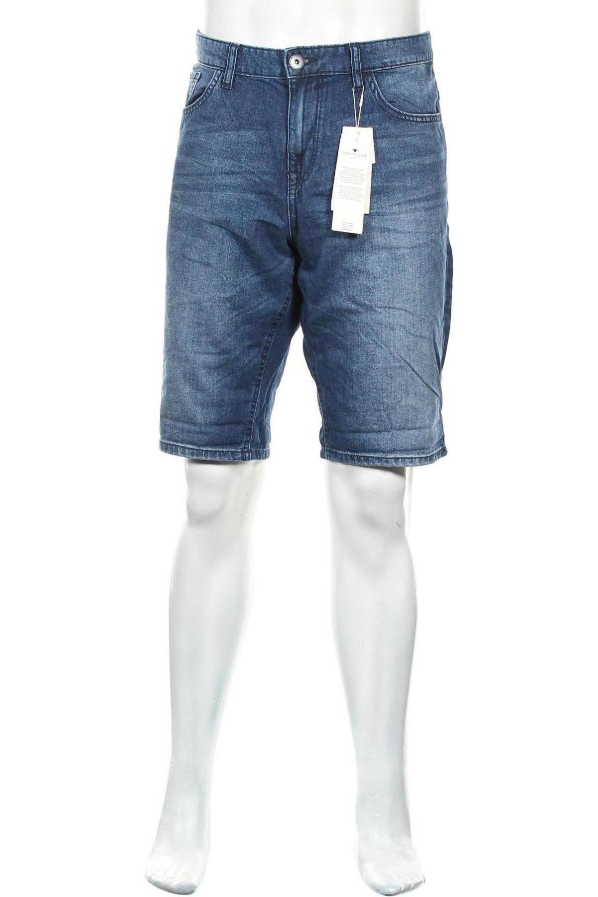 Мъжки къс панталон Tom Tailor, Размер XL, Цвят Син, Памук, Цена 18,72лв.