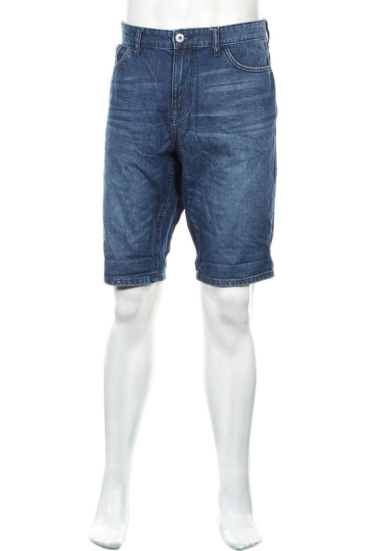 Мъжки къс панталон Tom Tailor, Размер L, Цвят Син, Памук, Цена 16,43лв.