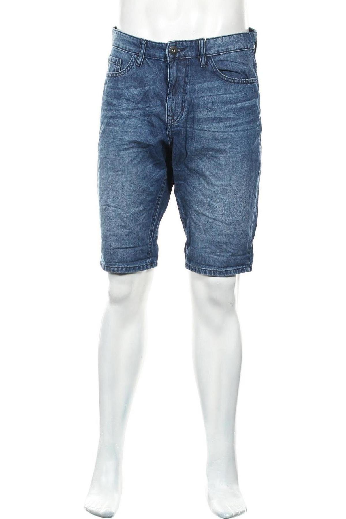 Мъжки къс панталон Tom Tailor, Размер M, Цвят Син, Памук, Цена 18,72лв.