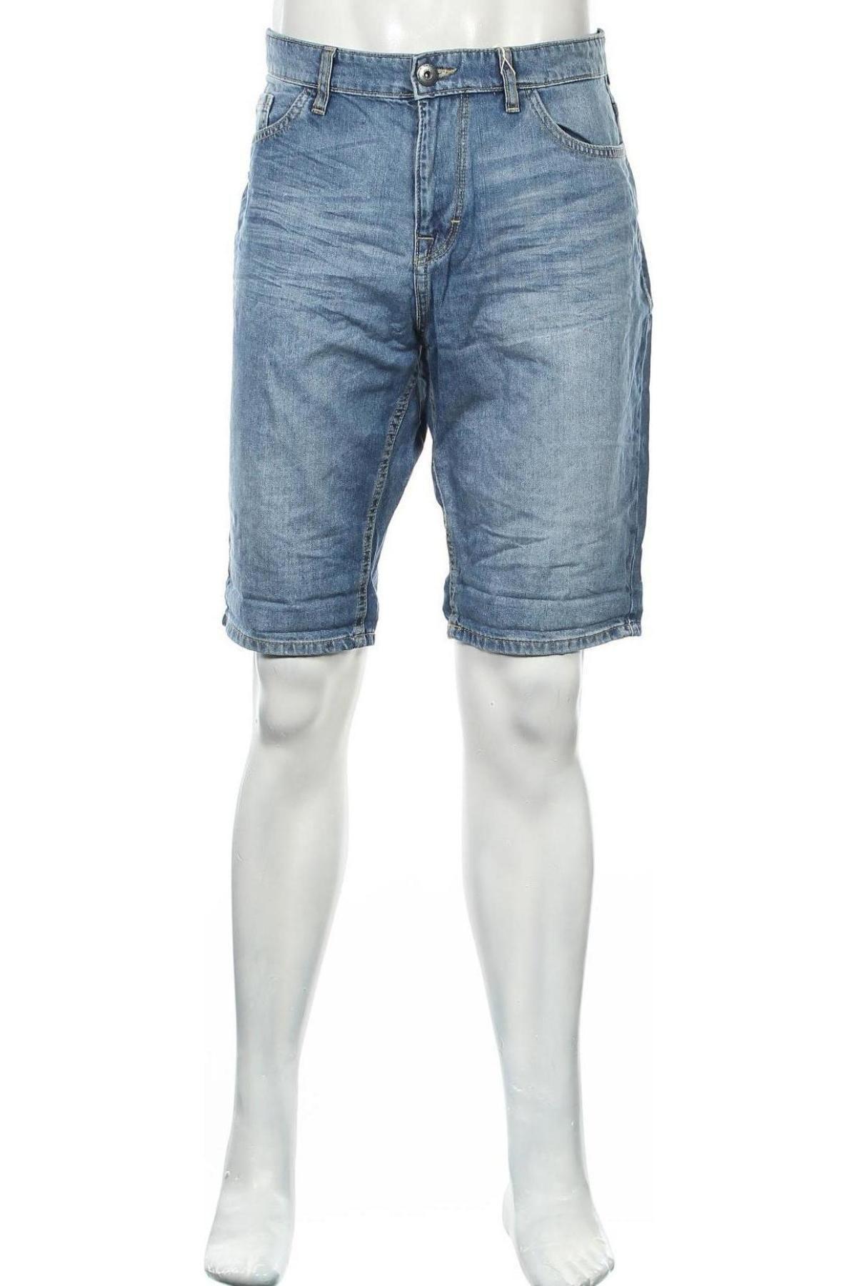 Мъжки къс панталон Tom Tailor, Размер L, Цвят Син, Памук, Цена 20,80лв.
